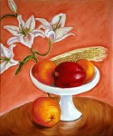 Still life in pink + orange